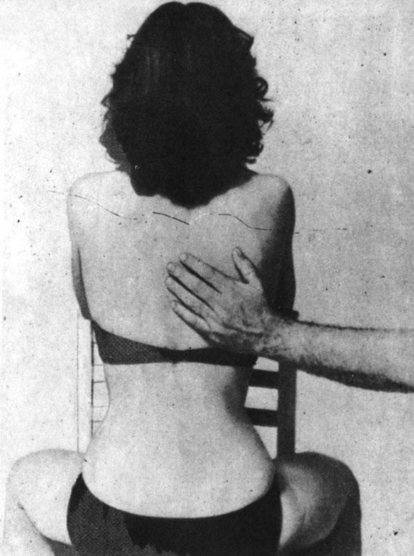 Поглаживающий массаж спины